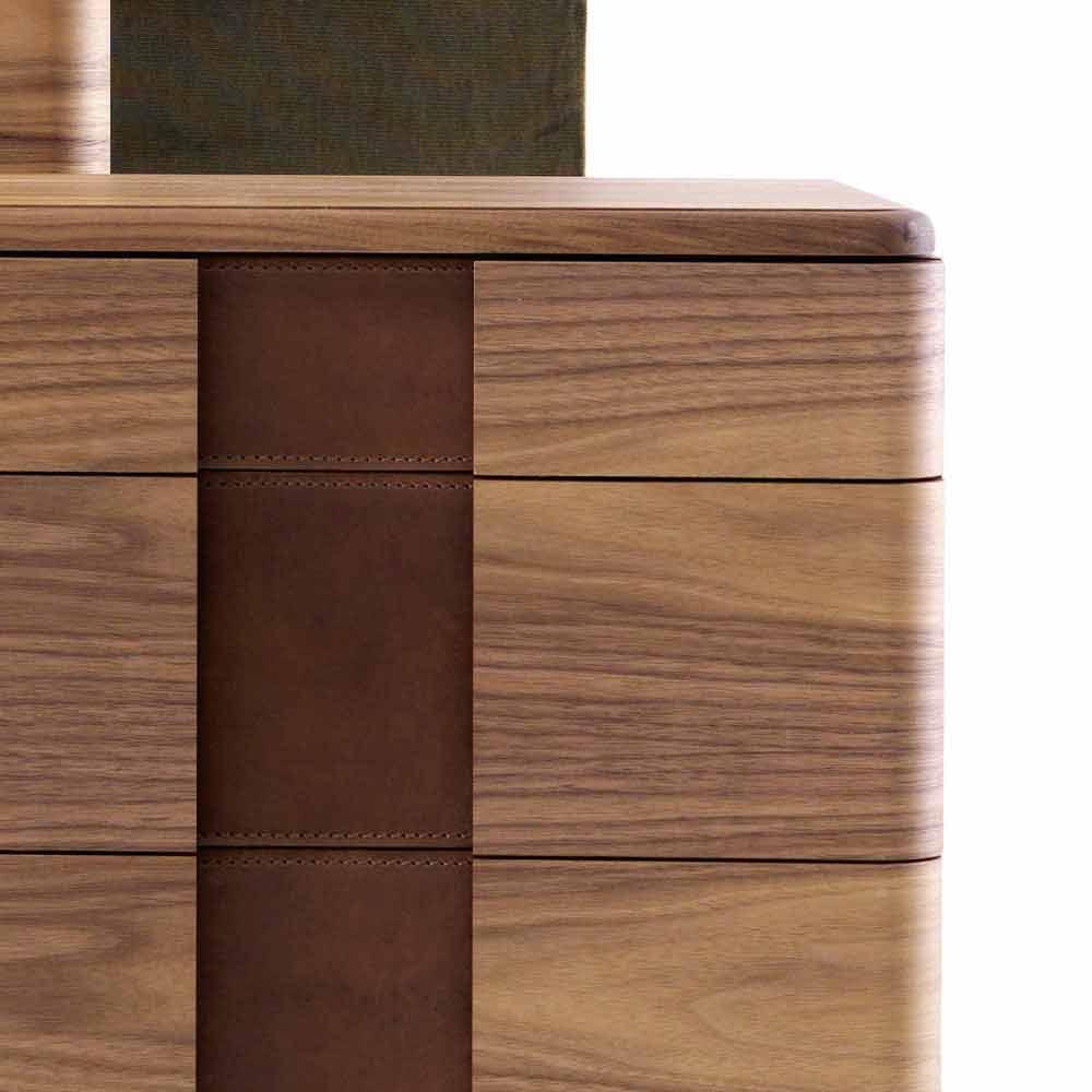 Massief Houten Nachtkastjes.Modern Design Nachtkastje In Massief Hout Grilli York Gemaakt In Italie