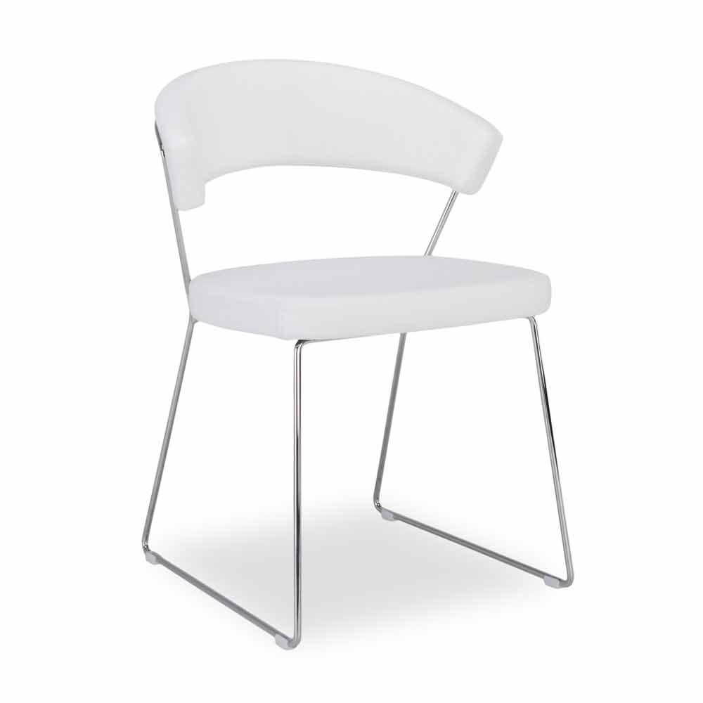 Connubia New York Calligaris stoel in modern design leder, 2