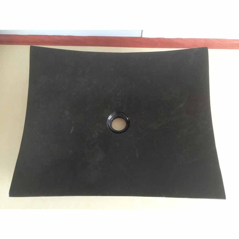 Love design zwarte badkamer wastafel in natuursteen