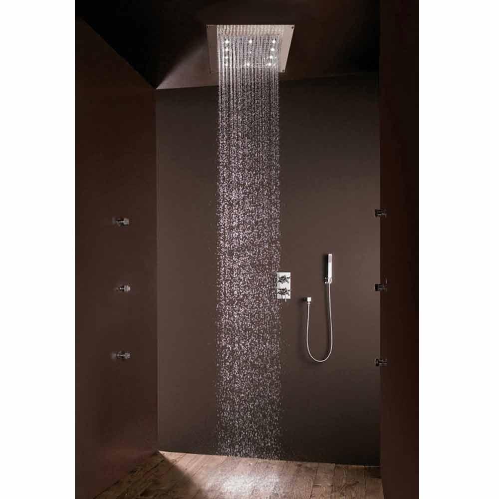 plein douchekop douche met regendouche en led verlichting