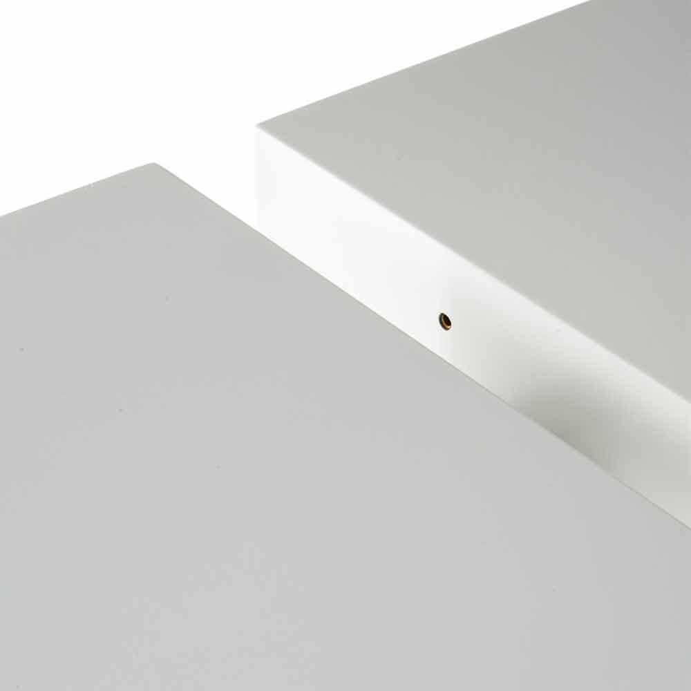 Moderne Salontafel Mat Wit.Mat Wit Gelakt Uitschuifbare Tafel Recent Demy