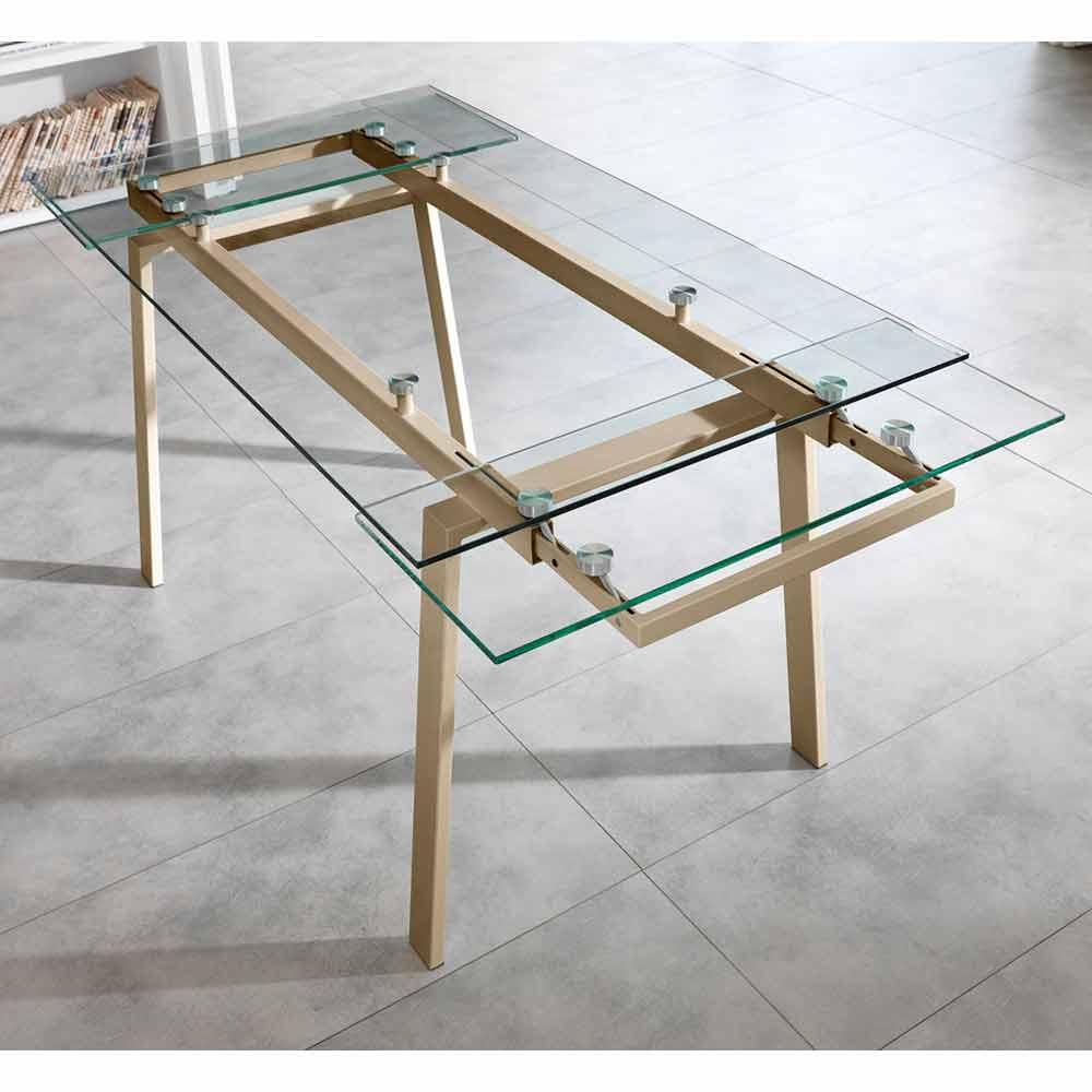 Glazen Tafel Uitschuifbaar.Moderne Glazen Eettafel Uitschuifbaar W140 D80 Cm 200x Nardo