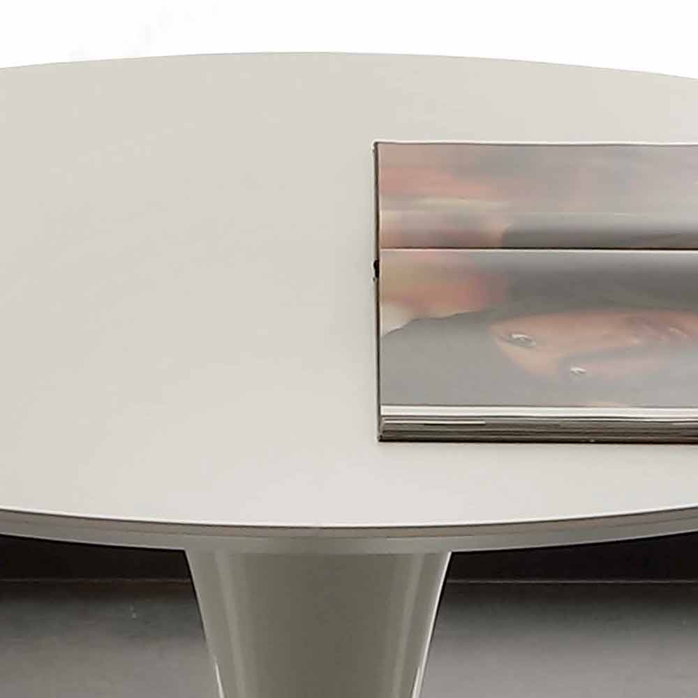 Eettafel Modern Wit.Ronde Tafel Met Modern Design Topeka Witte Kleur
