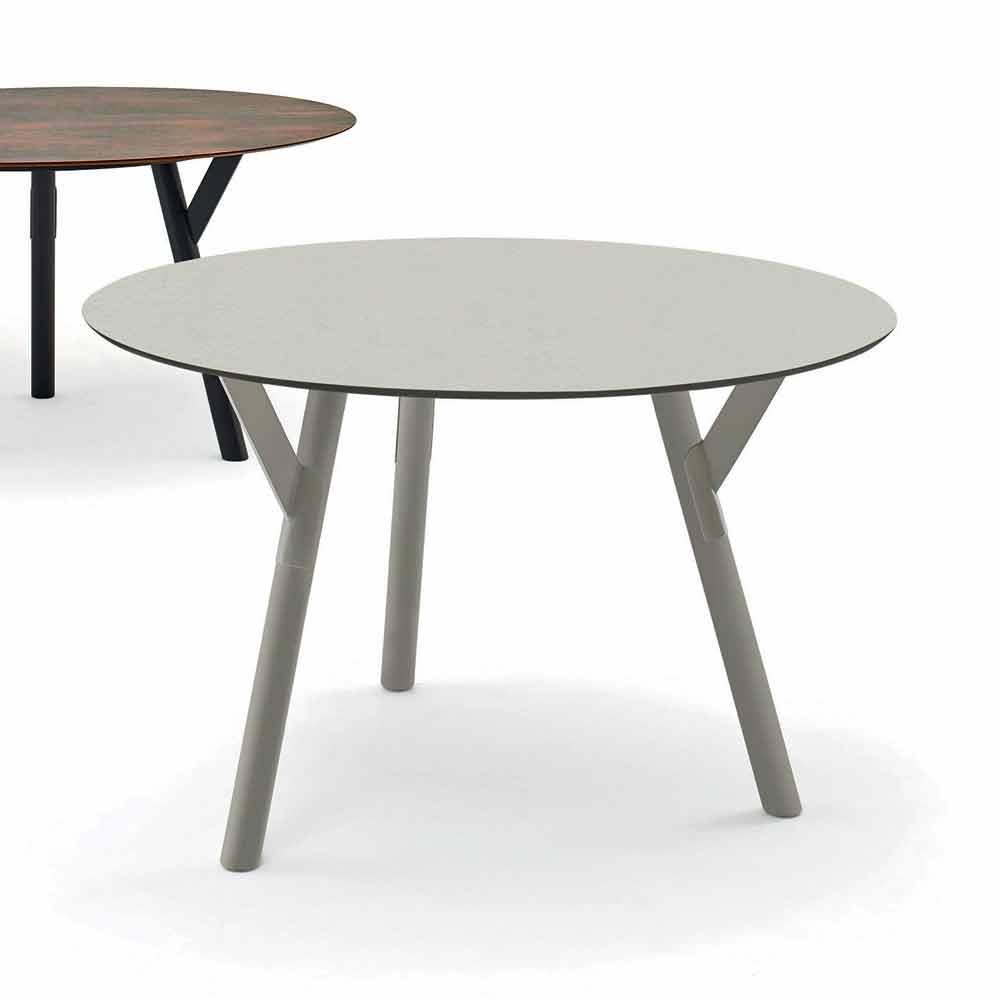 Ronde Eetkamertafel Modern.Varaschin Links Ronde Tafel Modern Design Tuin H 75 Cm