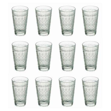 12 drankglazen in gedecoreerd transparant glas voor drankjes - Maroccobic