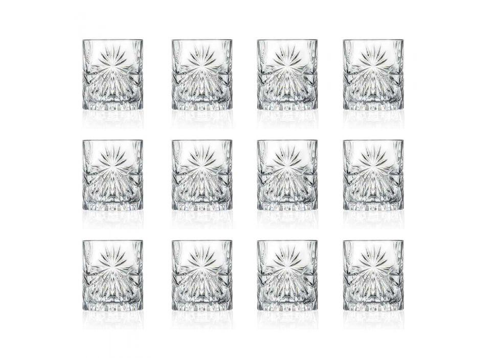 12 dubbele ouderwetse tuimelglazen in eco-kristalontwerp - Daniele