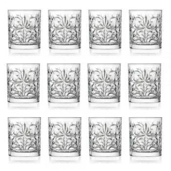 12 dubbele ouderwetse tuimelglazen in luxe eco-kristal - Destino