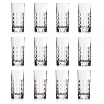 12 longdrinkglazen voor frisdranken of longdrinks in Eco Crystal - Titanioball