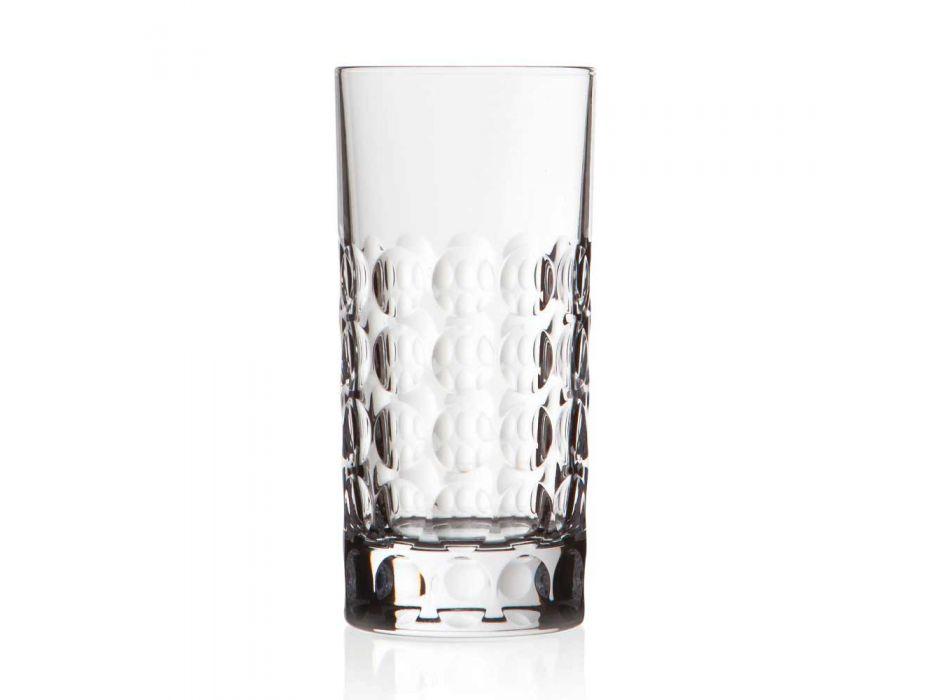 12 longdrinkglazen voor frisdranken of longdrinks in Eco Crystal - Titanioball