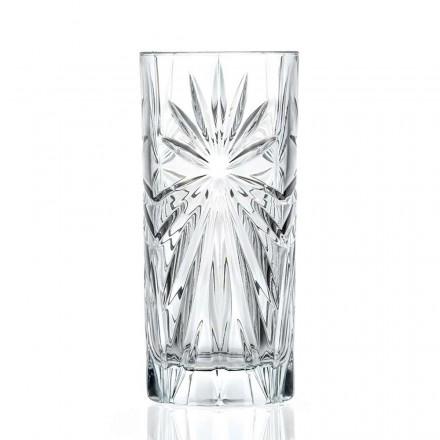 12 Highball Tumbler Tall Cocktailglazen in Eco Crystal Design - Daniele