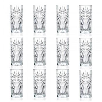 12 Highball Tumbler Tall Cocktailglazen in Eco Crystal Design - Daniele
