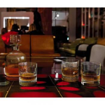 12 glazen voor water of whisky vintage design in gedecoreerd kristal - tactiel