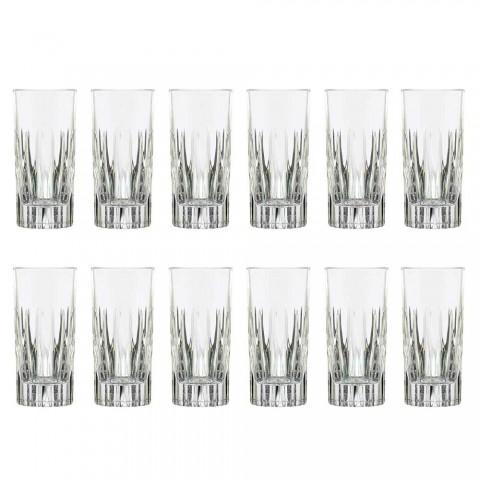 12 Tumbler Tall Longdrinkglazen van ecologisch kristal - Voglia