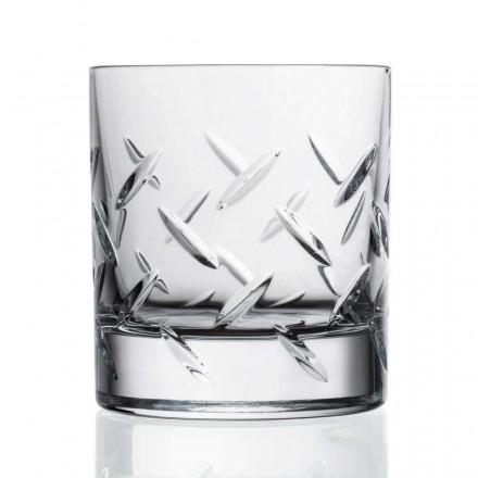 12 glazen voor whisky of water in ecokristal met kostbare decoraties - aritmie