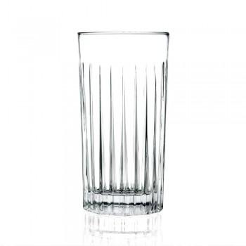 12 Tumbler Highball-glazen in gedecoreerd Eco-kristal - Senzatempo