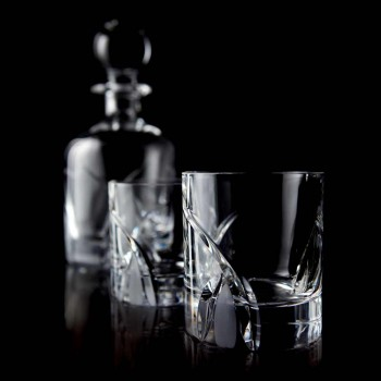 12 Lage Tumbler-glazen in Eco Crystal Luxury Design - Montecristo