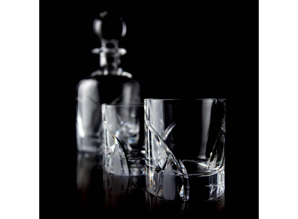 12 Lage Tumbler-glazen in Eco Crystal Luxury Design - Montecristo
