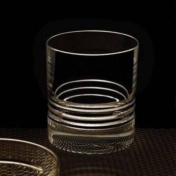 12 Tumbler dubbele ouderwetse kristallen whiskyglazen - aritmie