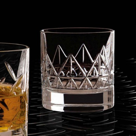 12 Glas Whisky of Water Luxe Modern Design in Kristal - Aritmie
