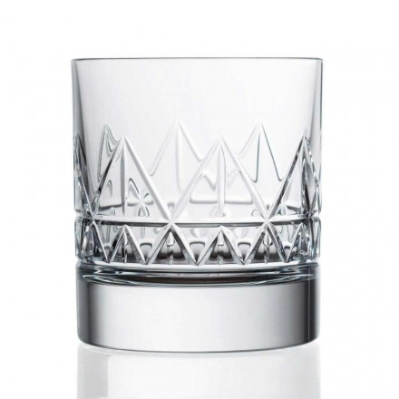 12 kristallen luxe vintage design whisky- of waterglazen - aritmie