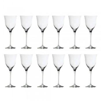 12 witte wijnglazen in ecologisch kristal Minimaal luxe ontwerp - glad