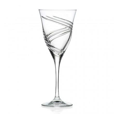 12 rode wijnglazen in ecologisch kristal loodvrije luxe - cycloon