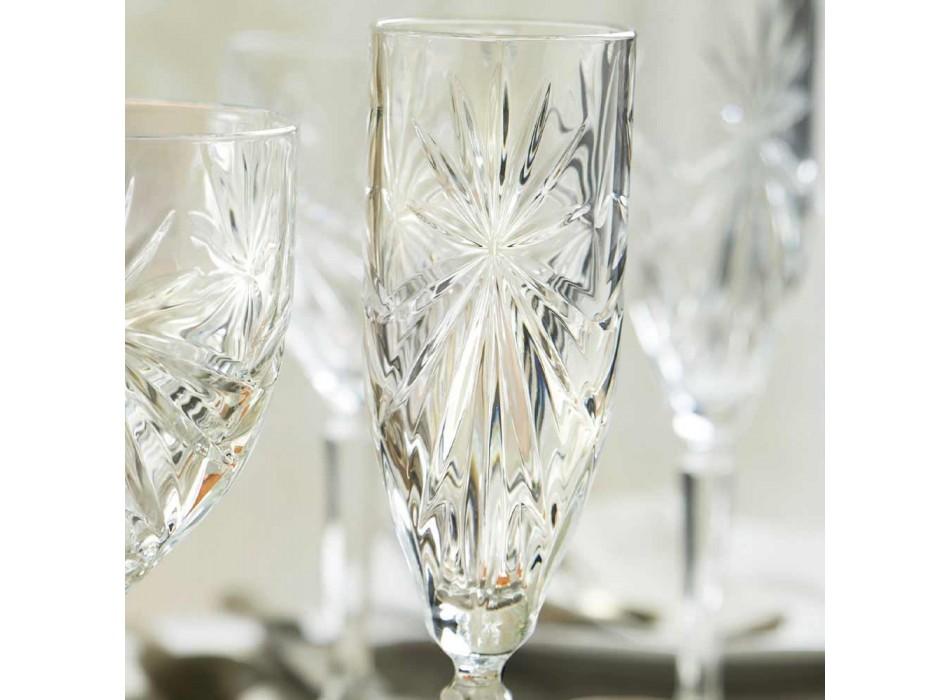 12 Fluitglazen Glas voor Champagne of Prosecco in Eco - Daniele Crystal