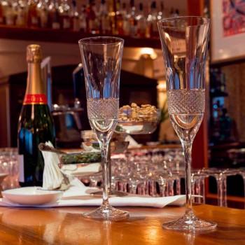 12 Fluitglazen voor Champagne in ecologisch kristal met handmatige decoratie - Milito