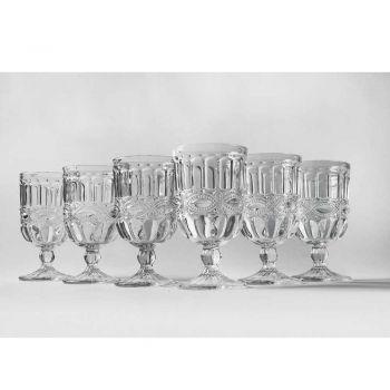 12 transparante en gedecoreerde glazen bekers voor de kersttafel - Garbobic
