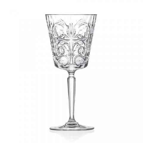 12 glazen voor water, drankjes of cocktaildesign in gedecoreerd ecokristal - Destino