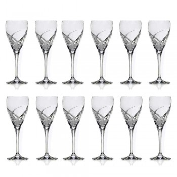 12 glazen voor witte wijn in ecologisch kristal luxe design - Montecristo