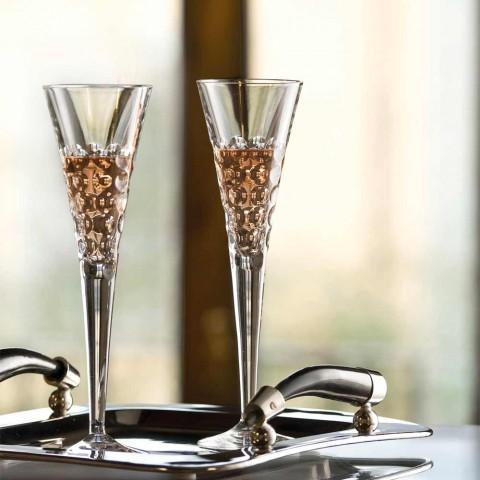 12 wijnglazen Fluter-glazen voor Crystal Bubbles - Titanioball