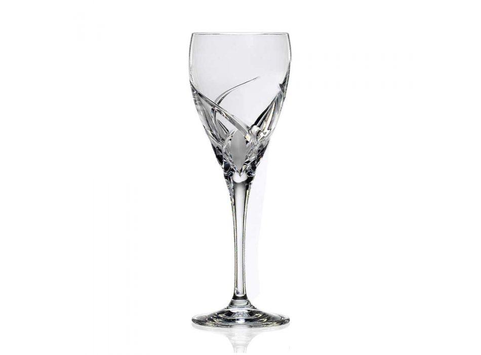 12 rode wijnglazen in ecologisch kristal luxe ontwerp - Montecristo