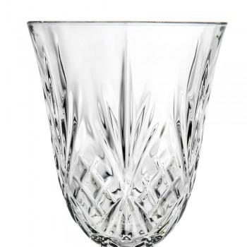 12 glazen wijn, water, cocktail in ecologische kristallen vintage stijl - Cantabile