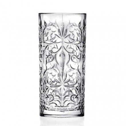 12 Tumbler Highball Cocktailglas of Luxe Versierd Water - Destiny