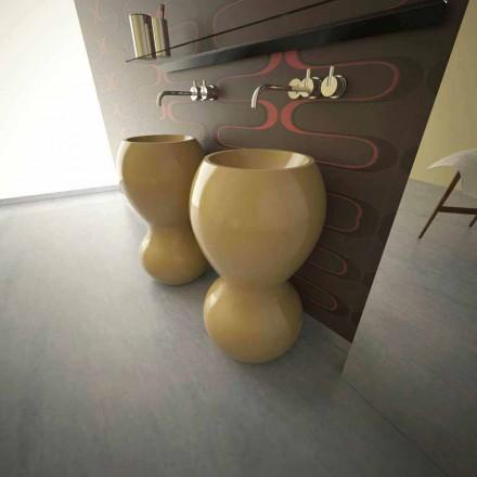 Ariel moderne design voetstukgootsteen, gemaakt in Italië