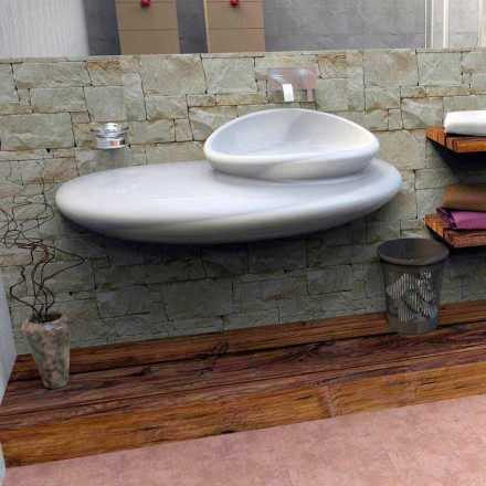 Hangende wasbak met modern design Stone made in Italy