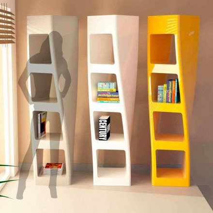 Moderne design boekenkast in Solid Surface Collins