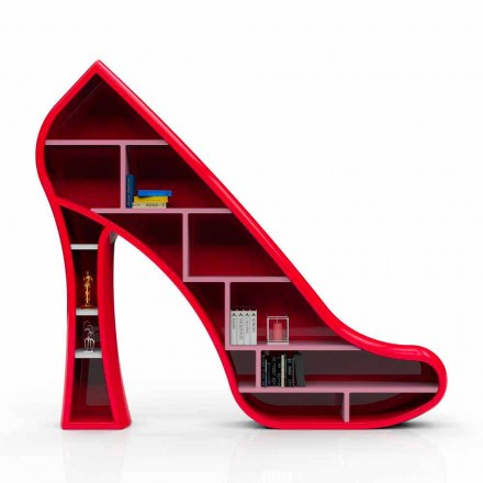 Moderne design boekenkast in Solid Surface Lady gemaakt in Italië