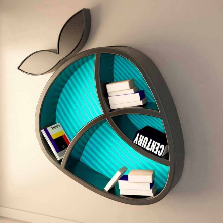 Modern design plank Poppy Book Viadurini Design Made in Italy