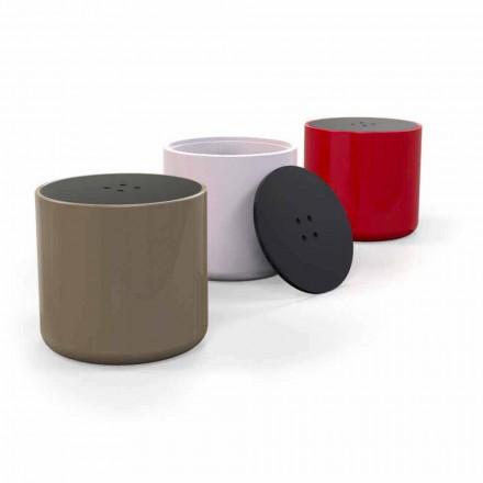 Design Button Poef / Koffietafel Gemaakt in Italië