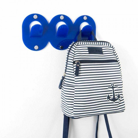 2 drievoudige wandhanger in gekleurd plexiglas clipontwerp - Freddie