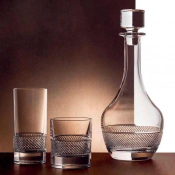 2 Wijnflessen met Rond Design Ecologisch Kristallen Deksel - Milito