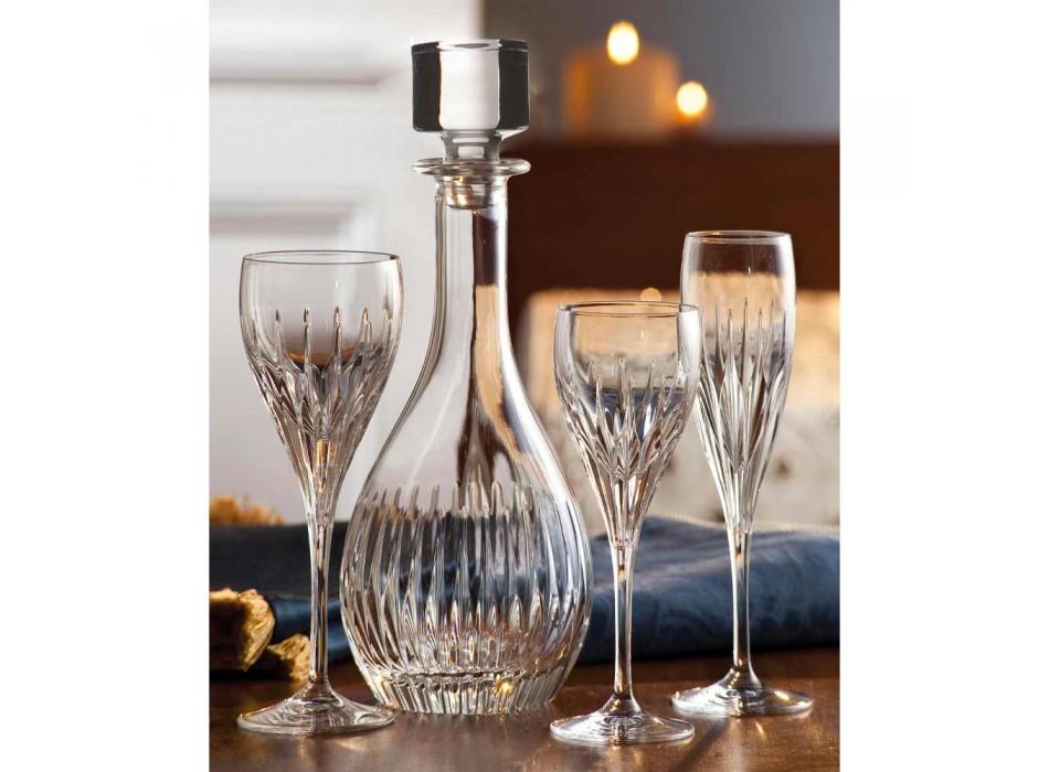 2 wijnflessen van ecologisch kristal handgemalen Italiaanse luxe - verlangen