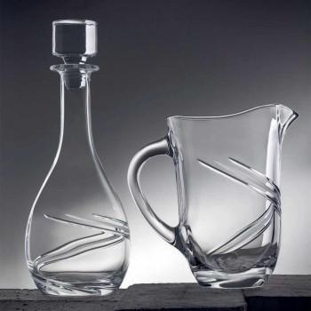 2 wijnflessen en luxe met de hand gedecoreerd Eco-kristallen deksel - Cycloon