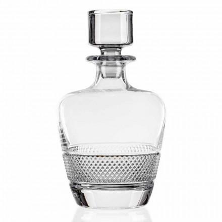 2 Whiskyflessen gedecoreerd in ecologisch kristal Made in Italy - Milito