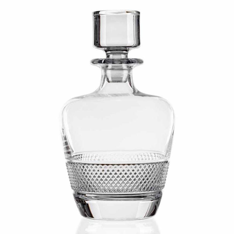 2 whiskyflessen gedecoreerd in ecologisch kristal elegant ontwerp - Milito