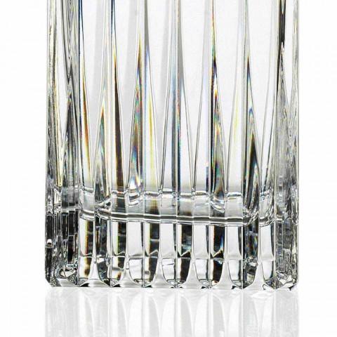 2 kristallen whiskyflessen met handmatige maling Made in Italy - Voglia