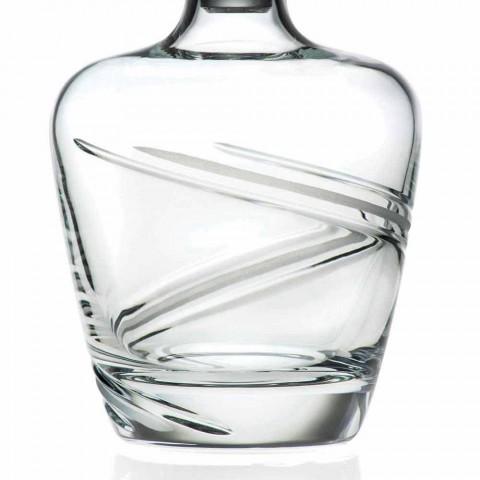 2 Whiskyflessen in Italiaans Artisan Ecologisch Kristal - Cycloon