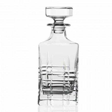 2 Whiskyflessen met Kristal Versierde Vierkante Design Cap - Aritmie